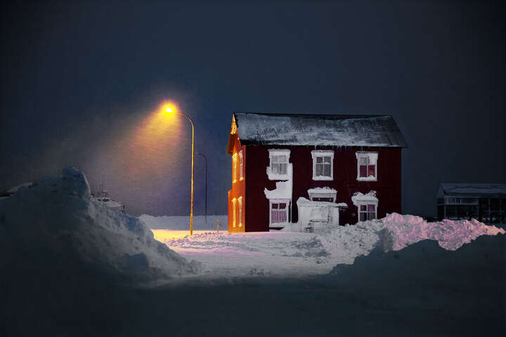 The Old Red House by Christophe Jacrot
