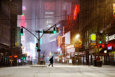 recommended living room artworks: West 50th by Christophe Jacrot
