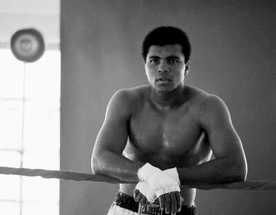 Celebrity Portrait Photography:  Muhammad Ali Training in Florida by Classic Collection I