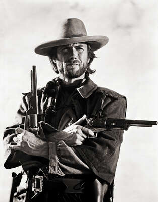 Celebrity Portrait Photography:  Clint Eastwood in The Outlaw Josey Wales by Classic Collection I