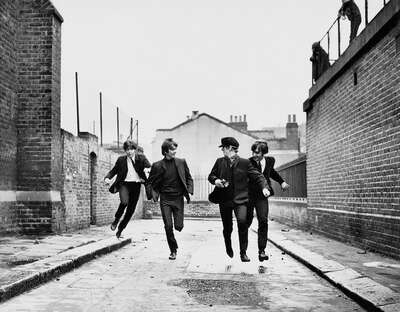 "Celebrity Portrait Photography:  The Beatles Running in ""A Hard Days Night"" by Classic Collection I"