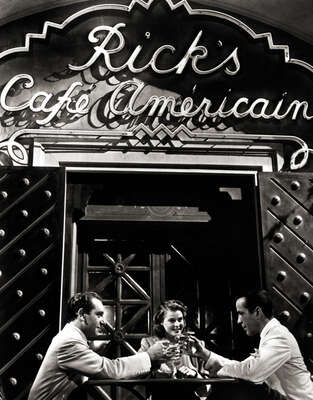 Celebrity Portrait Photography:  Casablanca Café Scene by Classic Collection I