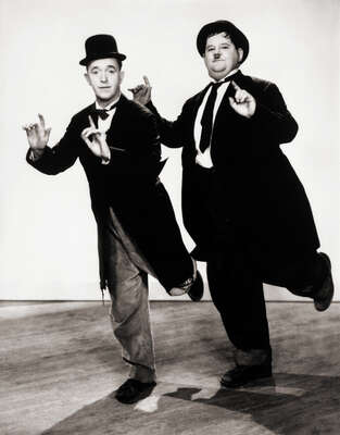 Celebrity Portrait Photography:  Laurel & Hardy in Way Out West by Classic Collection I