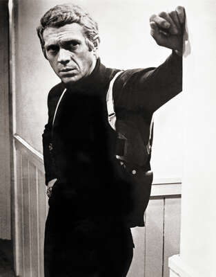 Celebrity Portrait Photography:  Steve McQueen in Bullet by Classic Collection I