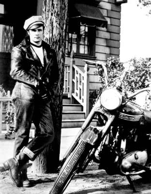 "figurative art:  Marlon Brando in ""The Wild One"" by Classic Collection I"