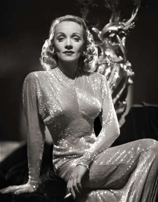 Celebrity Portrait Photography:  Marlene Dietrich Stunning Glamour II by Classic Collection I