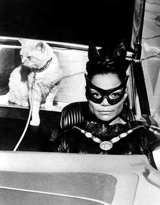 Celebrity Portrait Photography:  Eartha Kitt as Catwoman by Classic Collection I