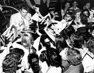 figurative art:  Elvis Presley among his Fans by Classic Collection I