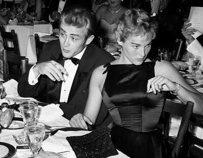 Celebrity Portrait Photography:  James Dean & Ursula Andress at the Oscar Dinner by Frank Worth by Classic Collection I