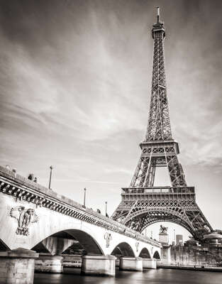 Pont d'Iéna and Eiffel Tower by Classic Collection Ill