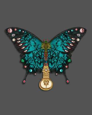 Fashion Wall Art:  Papillon II by Christian Lacroix