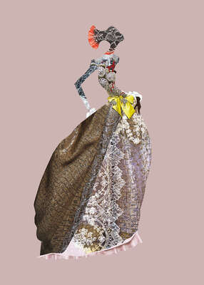 Fashion Wall Art:  Madone Nubienne by Christian Lacroix