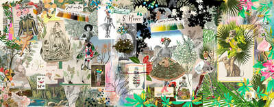 curated collage  artworks: Fashion's Seasons II by Christian Lacroix