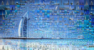 Curated blue artworks: Our Dubai by Charis Tsevis