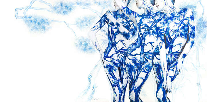Blue White Porcelain 01 by Dallae Bae