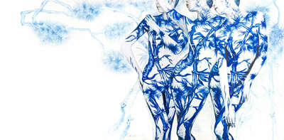 nude art photos  Blue White Porcelain 01 by Dallae Bae
