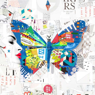 animal wall art:  Cut the Conversation by Derek Gores