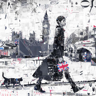 animal wall art:  Union Jack and Jill by Derek Gores