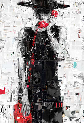 Fashion Wall Art:  Directory Assistance II by Derek Gores