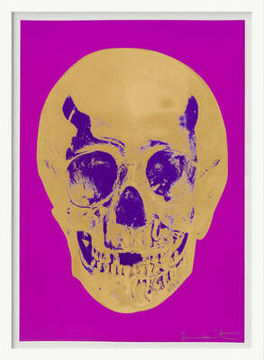 Till Death Do Us Part - Long Life - Purple African Gold Purple Imperial Purple Skull von Damien Hirst