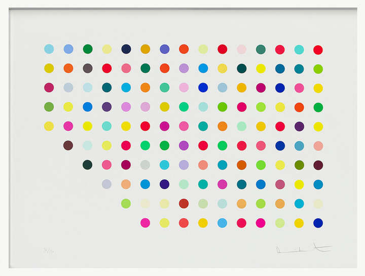 Spot Print - Meprobamate by Damien Hirst