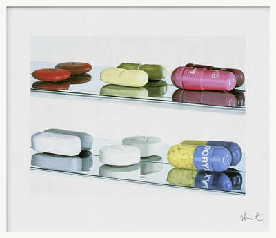Elusive Truth Print - Six Pills - Large by Damien Hirst