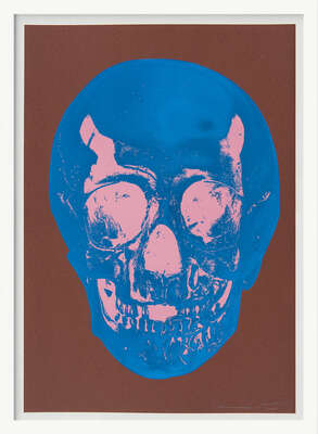 Till Death Do Us Part - Milk - Chocolate Brown True Blue Bubblegum Pink Skull von Damien Hirst