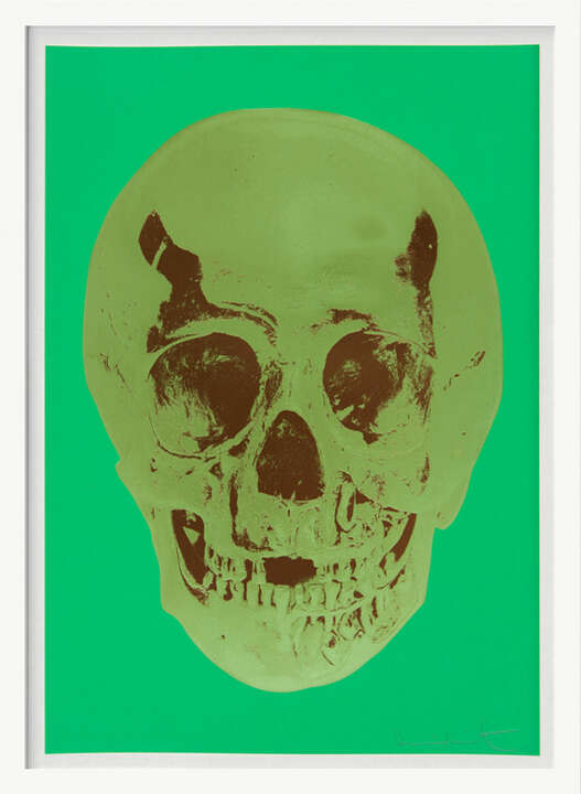Till Death Do Us Part - Viridian - Leaf Green Chocolate Skull by Damien Hirst