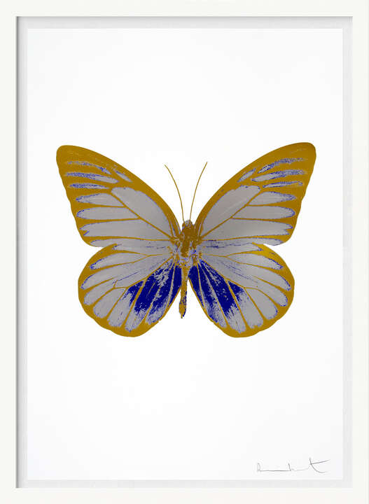 The Souls I - Silver Gloss  Westminster Blue Oriental Gold         by Damien Hirst