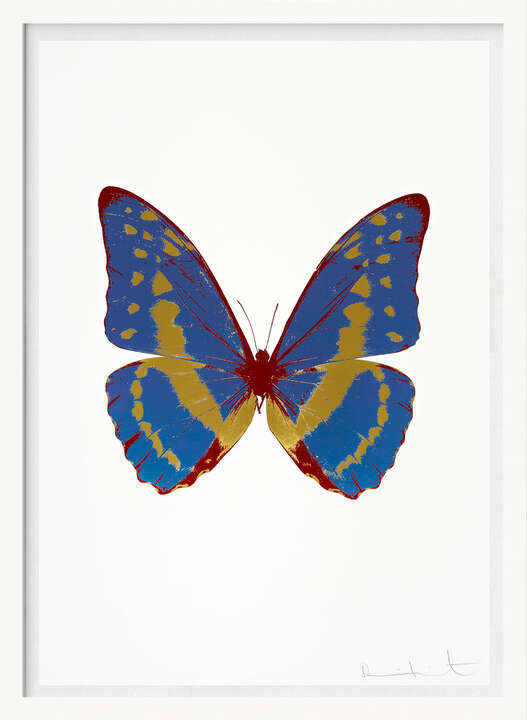 The Souls III - Frost Blue Oriental Gold Chilli Red by Damien Hirst