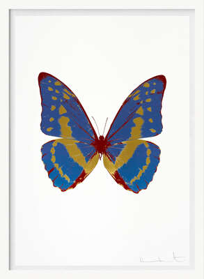 The Souls III - Frost Blue Oriental Gold Chilli Red von Damien Hirst