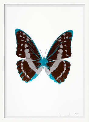 The Souls III - Chocolate Silver Gloss Topaz by Damien Hirst
