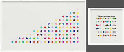 Controlled Substance Key Spot in pair with Phendimetrazine  von Damien Hirst