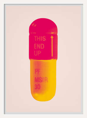 Kunstdruck limitiert: The Cure - Powder Pink/Lollypop Red/Golden Yellow von Damien Hirst