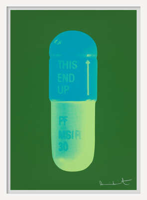 The Cure - Forest Green/Turquise/Acid Green by Damien Hirst