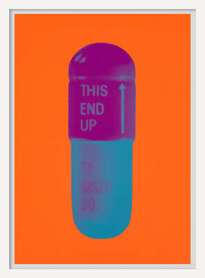 The Cure - Bright Orange/Orchid/Ari Force Blue von Damien Hirst