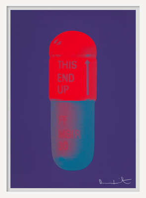 The Cure - Violet/Electric Red/Powder Blue von Damien Hirst