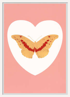 I Love You - white, pink, cool gold, poppy red von Damien Hirst
