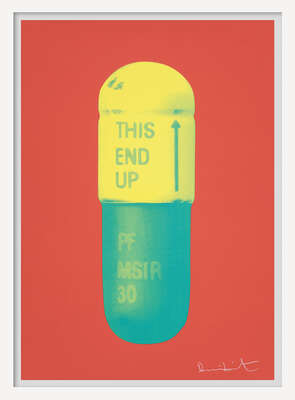 The Cure - Coral/Lemon Yellow/Turquise von Damien Hirst