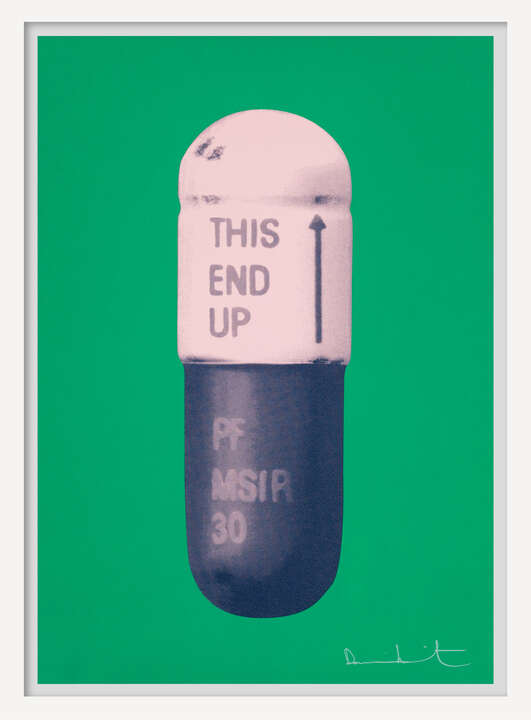 The Cure - Emerald Green/Powder Pink/Victorian Purple by Damien Hirst