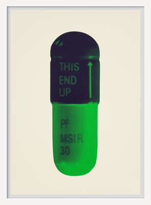 The Cure - Cream/Aubergine/Pea Green von Damien Hirst