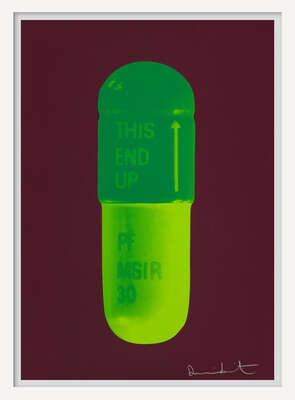 conceptual photography:  The Cure - Chocolate/Emerald Green/Lime Green by Damien Hirst