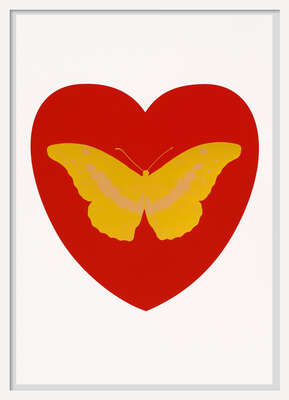 I Love You - red, oriental gold, cool gold von Damien Hirst