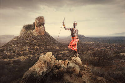 figurative art:  Maasai by Daniel Kordan