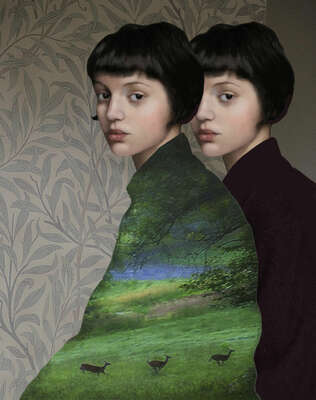 Portrait Painting  Dual Nature by Daria Petrilli