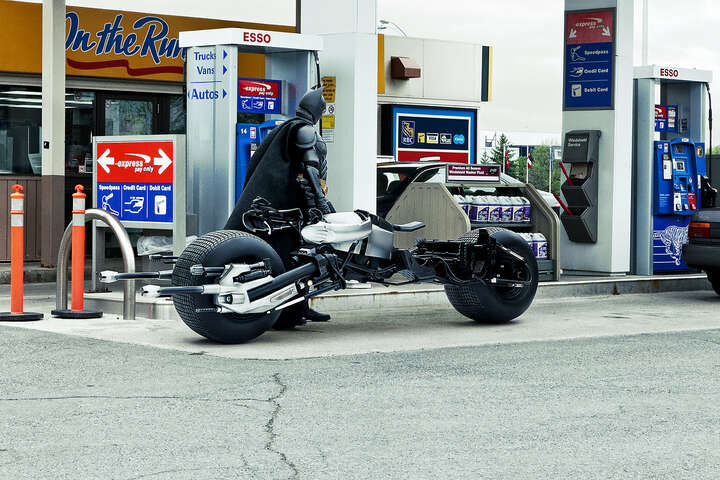 Bat-Pod at the Gas Station von Daniel Picard