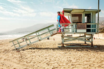 Beach Wall Art Prints: Super-Lifeguard by Daniel Picard
