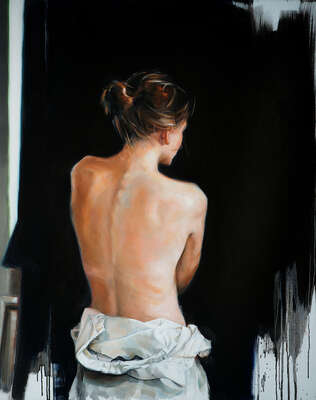 figurative art  Le dos d'une femme by Edward B. Gordon