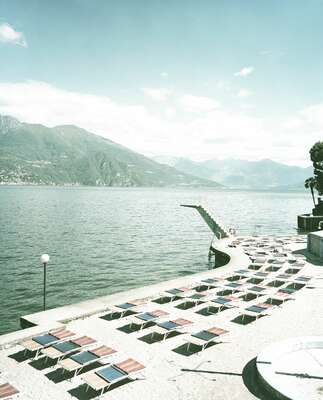 curated beach art: Lago di Como by Erik Chmil