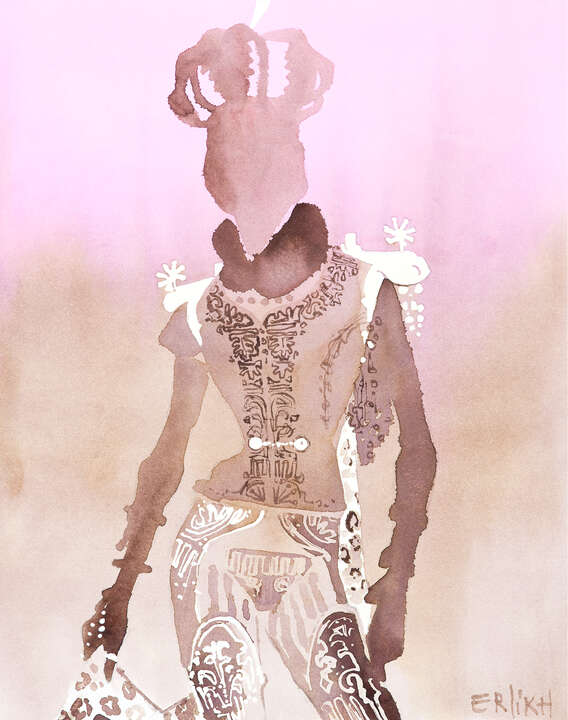 Gaultier Couture Military suit with a crown  by Eduard Erlikh